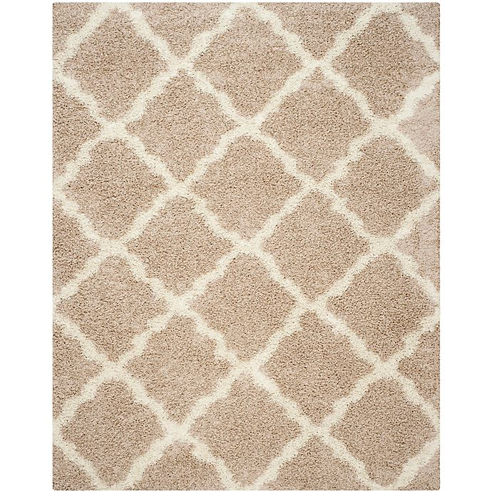 Alternate image 1 for Safavieh Dallas 8-Foot x 10-Foot Shag Area Rug in Beige/Ivory