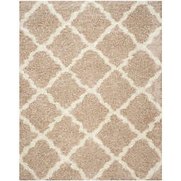 Safavieh Dallas 8-Foot x 10-Foot Shag Area Rug in Beige/Ivory