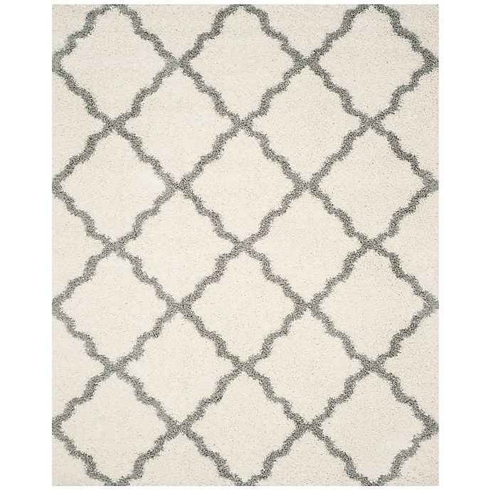Alternate image 1 for Safavieh Dallas 8-Foot 6-Inch x 12-Foot Shag Area Rug in Ivory/Grey