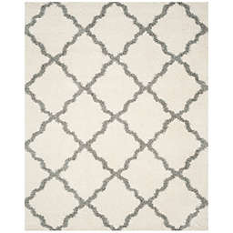 Safavieh Dallas 8-Foot 6-Inch x 12-Foot Shag Area Rug in Ivory/Grey
