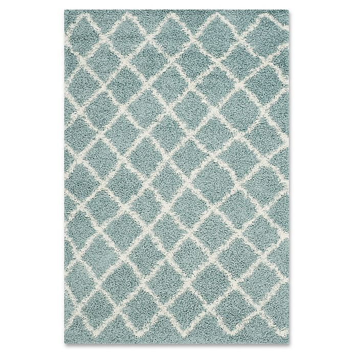 Alternate image 1 for Safavieh Dallas 5-Foot 1-Inch x 7-Foot 6-Inch Shag Area Rug in Seafoam/Ivory