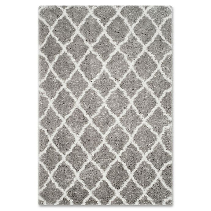 Alternate image 1 for Safavieh Indie 5-Foot 1-Inch x 7-Foot 6-Inch Shag Area Rug in Grey/Ivory