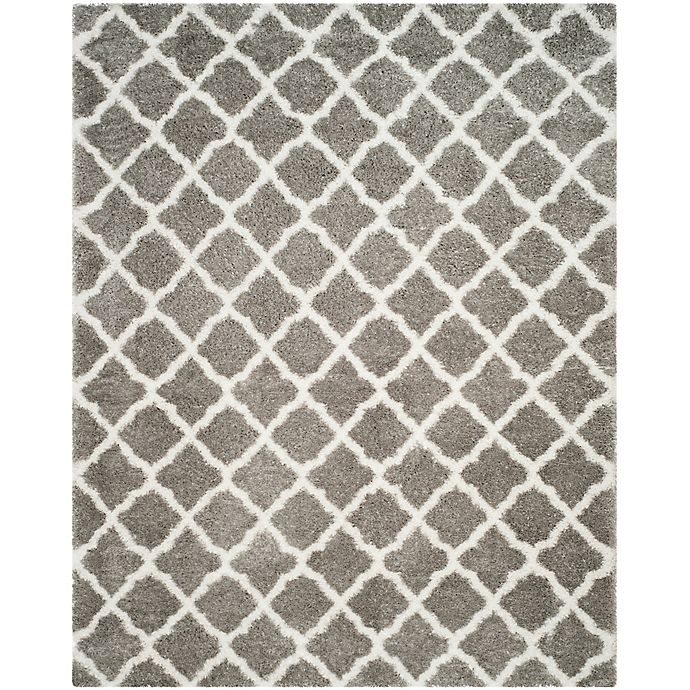 Alternate image 1 for Safavieh Indie 8-Foot x 10-Foot Shag Area Rug in Grey/Ivory