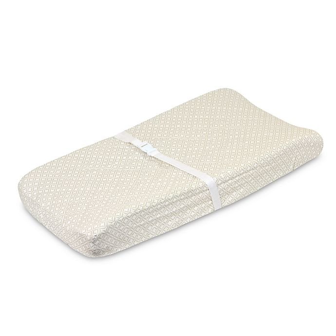 Alternate image 1 for Just Born® Keepsake Washed Linen Changing Pad Cover in Flax