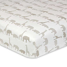Just Born® Keepsake Animal Treasure Fitted Crib Sheet in Neutral