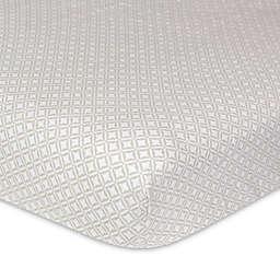 Just Born® Keepsake Washed Linen Geo Star Crib Sheet in Flax