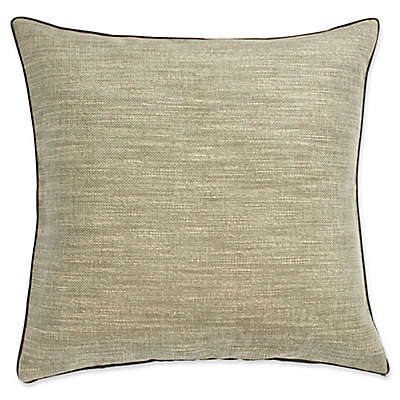 Harlequin Lotus 20-Inch Square Throw Pillow in Light Taupe