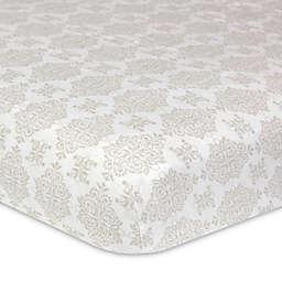 Just Born® Keepsake Washed Linen Manor Court Neuveau Crib Sheet in Ivory