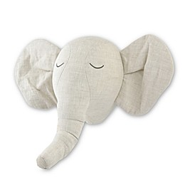 Just Born® Keepsake Washed Linen Elephant Head Wall Art