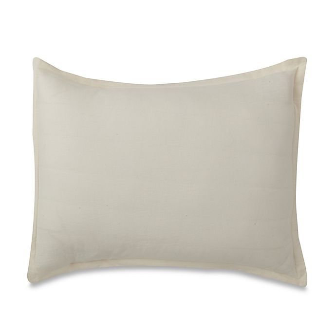 Alternate image 1 for LinenWeave Vintage Washed King Pillow Sham in Ivory