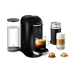 Nespresso® by Breville® VertuoPlus Deluxe Coffee and Espresso Maker Bundle with Aeroccino