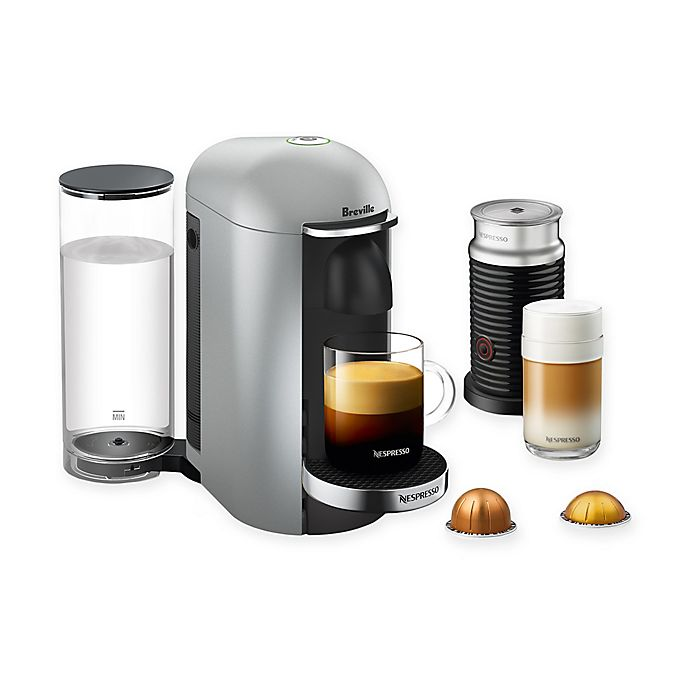 Alternate image 1 for Nespresso® by Breville® VertuoPlus Deluxe Coffee and Espresso Maker Bundle in Silver