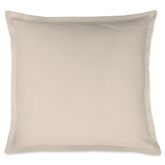 Alternate image 1 for LinenWeave Vintage Washed European Pillow Sham in Ivory