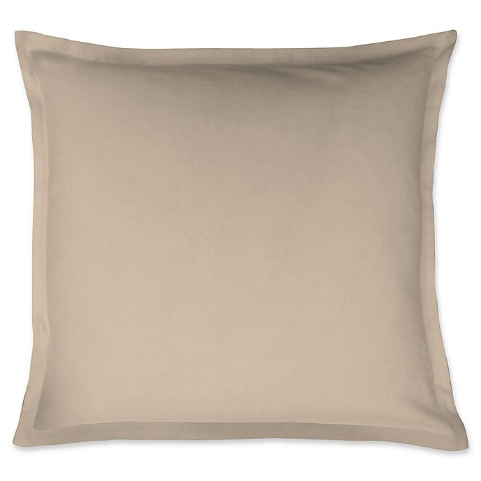 Alternate image 1 for LinenWeave Vintage Washed European Pillow Sham in Natural