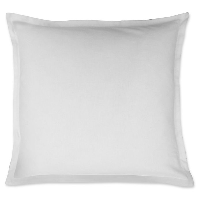 Alternate image 1 for LinenWeave Vintage Washed European Pillow Sham in White