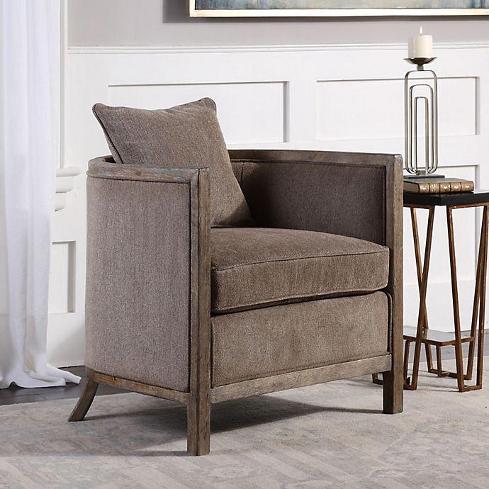 Alternate image 1 for Uttermost Viaggio Chenille Accent Chair in Grey
