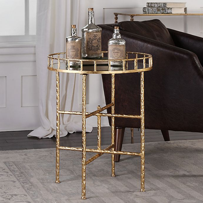 Alternate image 1 for Uttermost Tilly Iron Accent Table in Gold Leaf