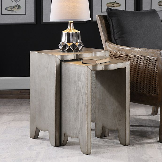 Buy Uttermost Imala Nesting Tables In Burnished Silver