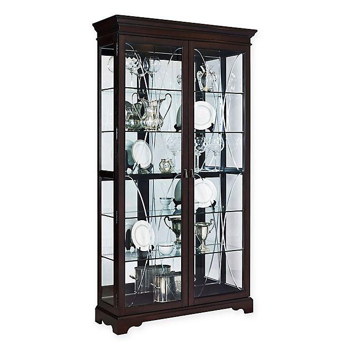 Inspiring Second Hand Cabinets 4 Dark Cherry Kitchen: Pulaski Sable Double Door Curio In Brown