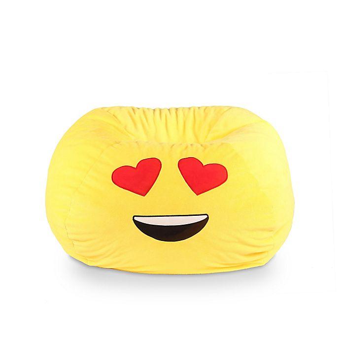 Alternate image 1 for GoMoji™ Heart Eyes Emoji Bean Bag in Yellow