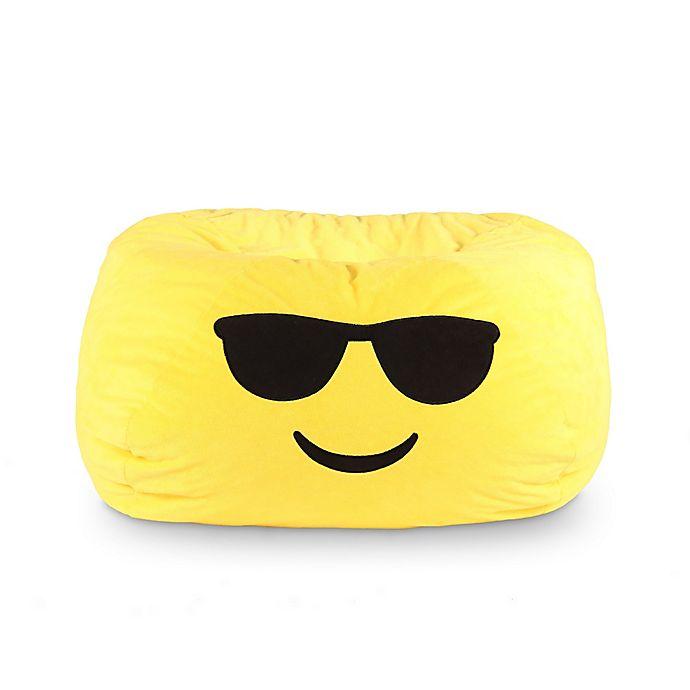 Fabulous Gomoji Cool Emoji Bean Bag In Yellow Bed Bath Beyond Forskolin Free Trial Chair Design Images Forskolin Free Trialorg