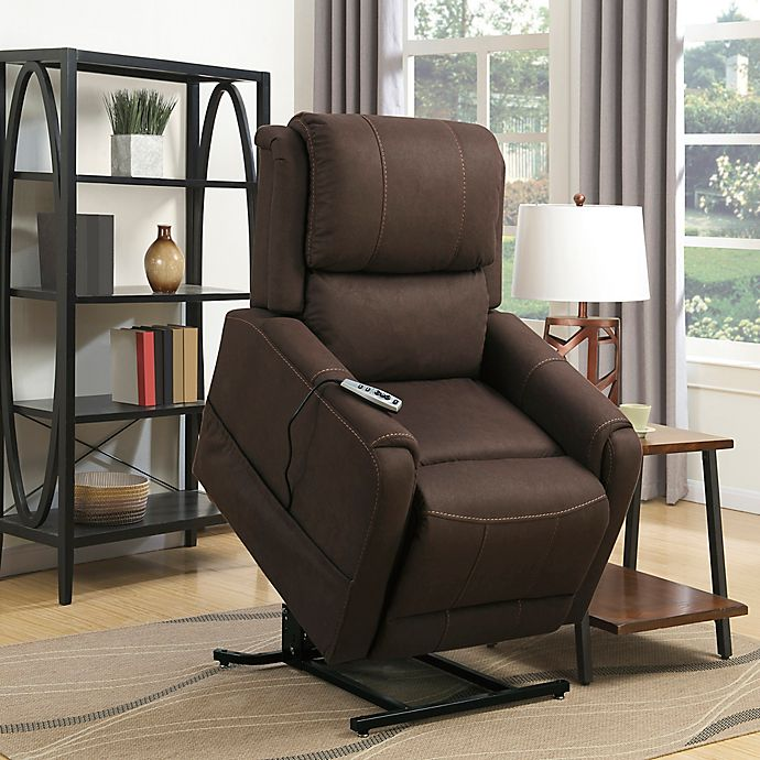 Alternate image 1 for Pulaski Heat and Massaging Lift Chair in Brown