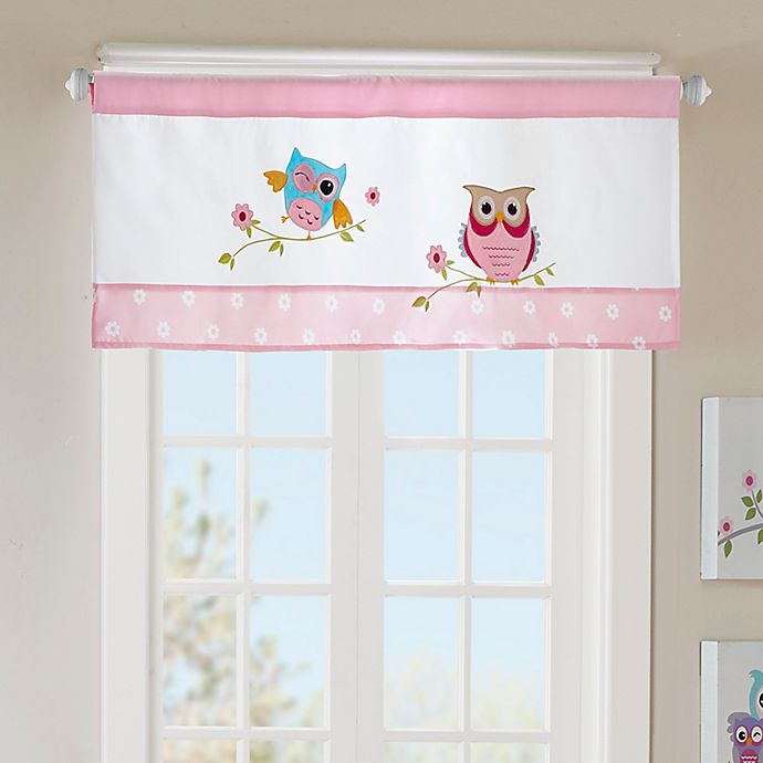 Alternate image 1 for Mi Zone Kids Wise Wendy Straight window Valance in Pink