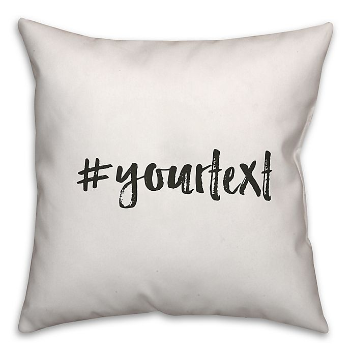 Alternate image 1 for Designs Direct Brush Stroke Hashtag Square Throw Pillow