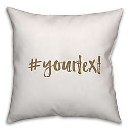 Designs Direct Brush Stroke Hashtag Square Throw Pillow in Brown