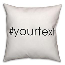 Designs Direct Sans-Serif Font Hashtag Square Throw Pillow