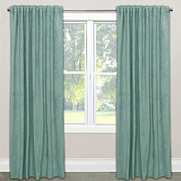 Skyline Velvet Rod Pocket/Back Tab Window Curtain Panel