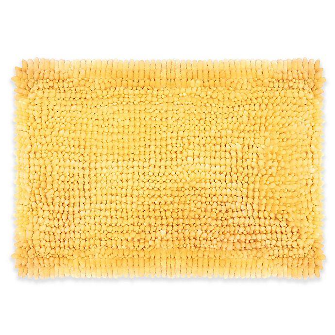 Alternate image 1 for Laura Ashley® Butter Chenille Bath Rug