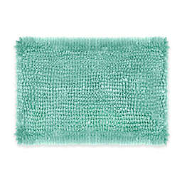 Laura Ashley® Butter Chenille 17-Inch x 24-Inch Bath Rug in Aqua