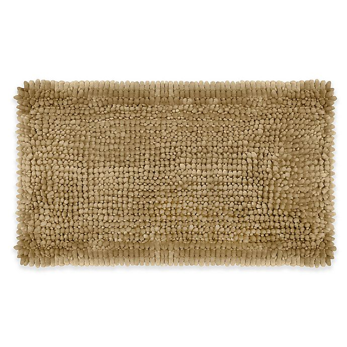 Alternate image 1 for Laura Ashley® Butter Chenille 20-Inch x 34-Inch Bath Rug in Linen