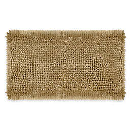 Laura Ashley® Butter Chenille 20-Inch x 34-Inch Bath Rug in Linen