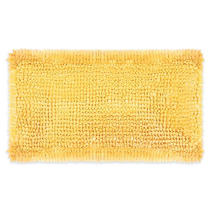 Alternate image 1 for Laura Ashley® Butter Chenille 20'' x 34'' Bath Rug in Yellow