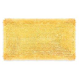 Laura Ashley® Butter Chenille 20'' x 34'' Bath Rug in Yellow