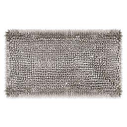 Laura Ashley® Butter Chenille 20-Inch x 34-Inch Bath Rug in Light Grey