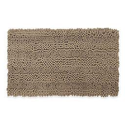 Laura Ashley Astor Striped 20-Inch x 34-Inch Bath Rug in Linen