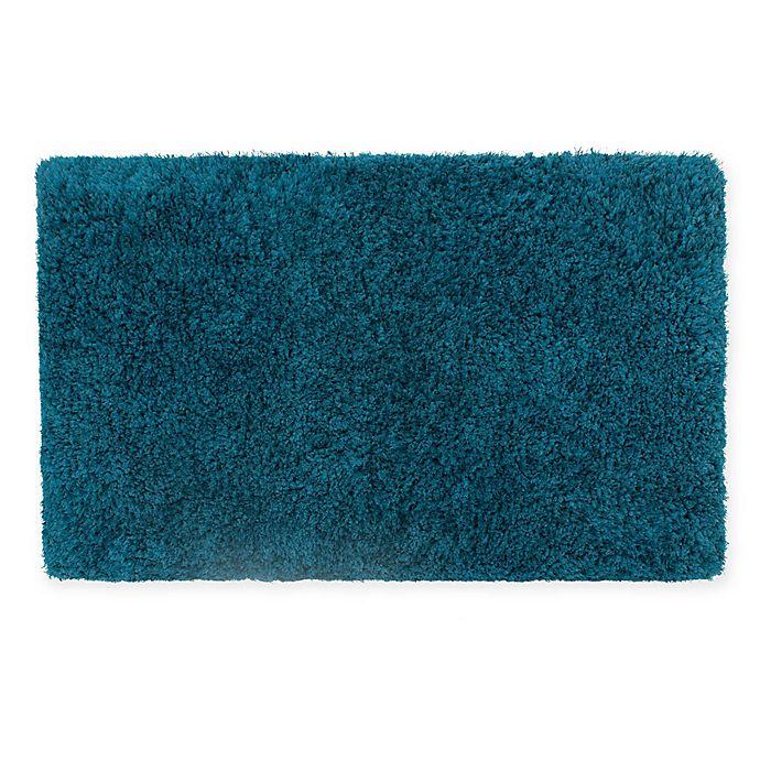 Buy Claudia Plush Shag 27-Inch X 45-Inch Bath Rug In Teal