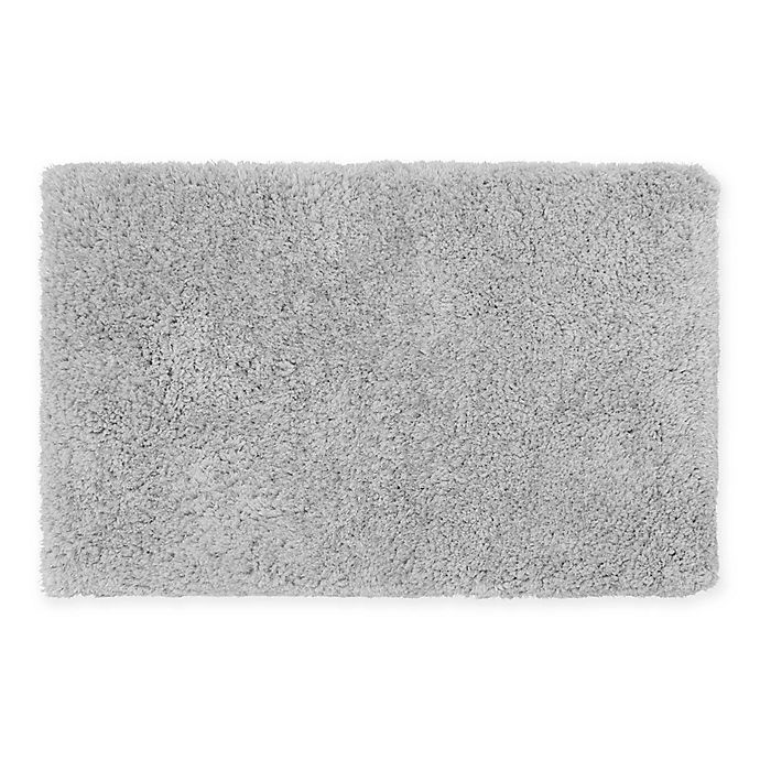 Alternate image 1 for Claudia Plush Shag 27-Inch x 45-Inch Bath Rug in Silver