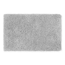 Claudia Plush Shag 27-Inch x 45-Inch Bath Rug in Silver