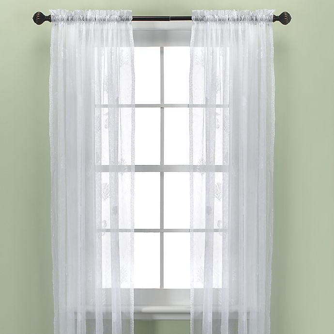 Alternate image 1 for Croscill® Sanibel Island Sheer Window Curtain Panel in White