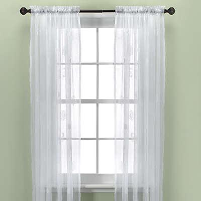 Croscill® Sanibel Island Sheer Window Curtain Panel in White