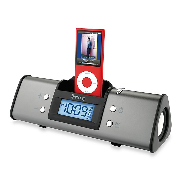 Ihome 174 Ipod Alarm Clock And Speaker System Bed Bath Amp Beyond