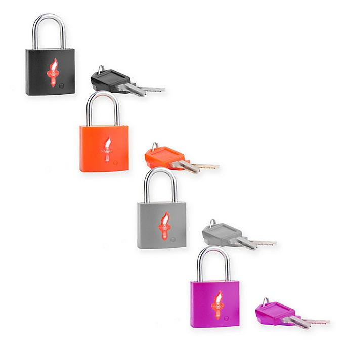 Alternate image 1 for Safe Skies® TSA-Accepted Padlocks in Multi 2(Set of 4)