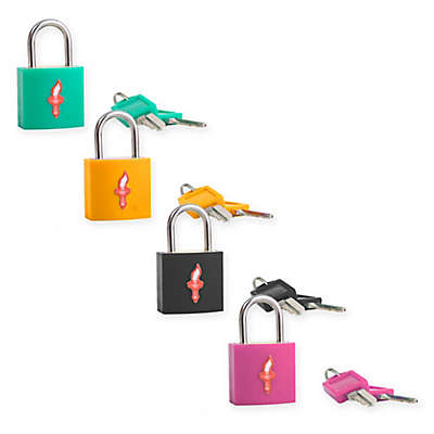 Safe Skies® TSA-Accepted Padlocks in Multi (Set of 4)