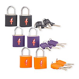 Safe Skies® 2-Piece TSA-Recognized Neon Luggage Padlock Set