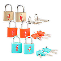 Safe Skies® 2-Piece TSA-Recognized Luggage Padlock Set