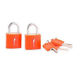 Safe Skies® 2-Piece TSA-Recognized Luggage Padlock Set in Pumpkin